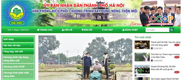 Hanoi's website on OCOP programme debuts hinh anh 1