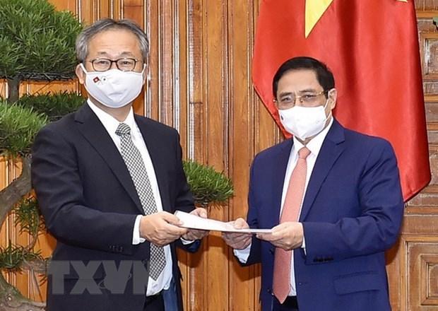PM Pham Minh Chinh receives Japanese Ambassador hinh anh 1