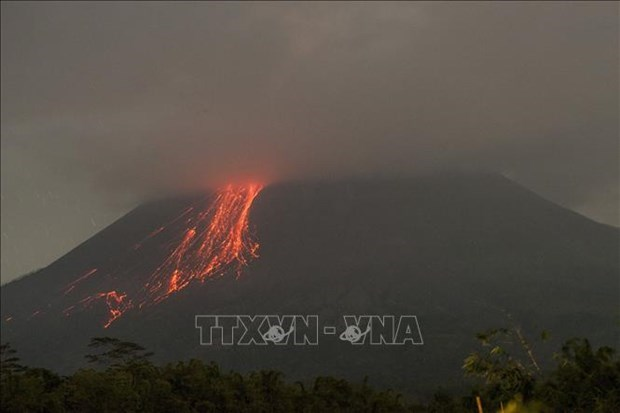 Indonesia's Merapi volcano erupts, spewing ash hinh anh 1