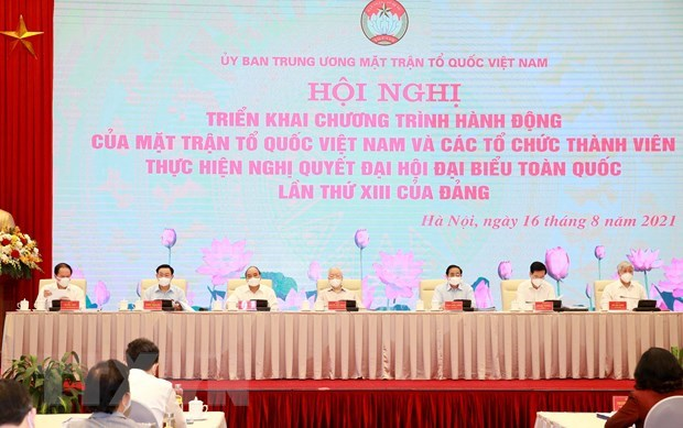 Party leader attends Vietnam Fatherland Front's national conference hinh anh 1