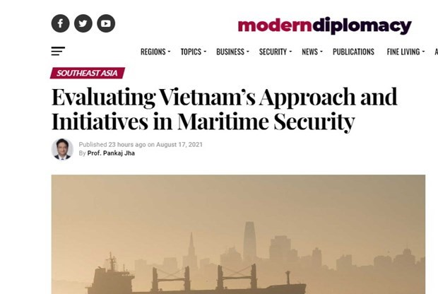 Indian scholar hails Vietnam's initiative in maritime security hinh anh 2