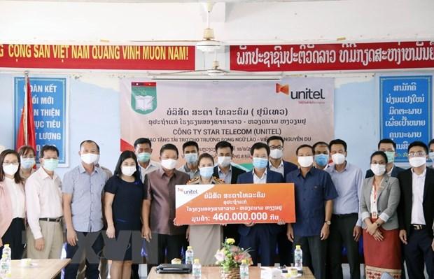 Unitel helps Nguyen Du bilingual school improve quality hinh anh 1