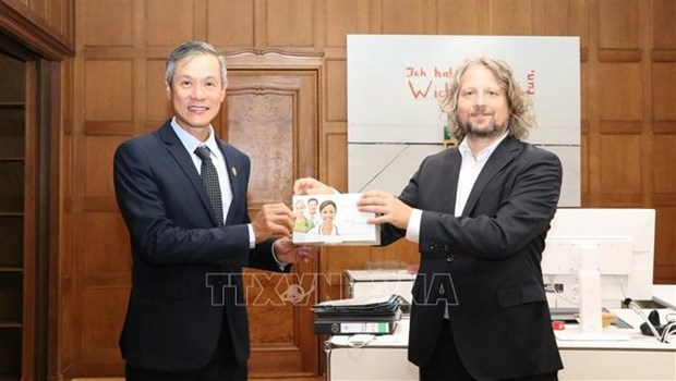 Berlin grants 30,000 COVID-19 quick test kits to Vietnam hinh anh 1