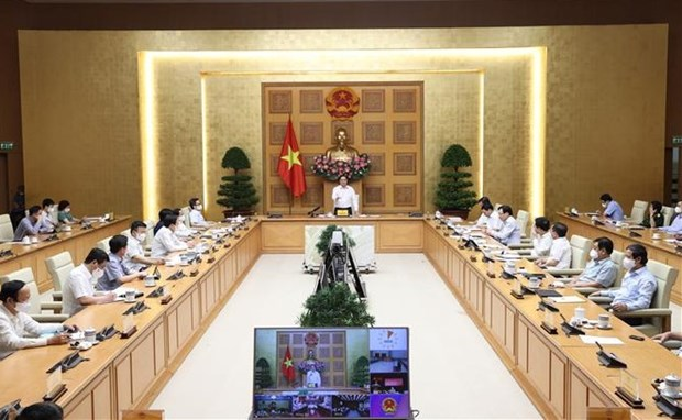 Prime Minister, southern localities discuss COVID-19 fight hinh anh 1
