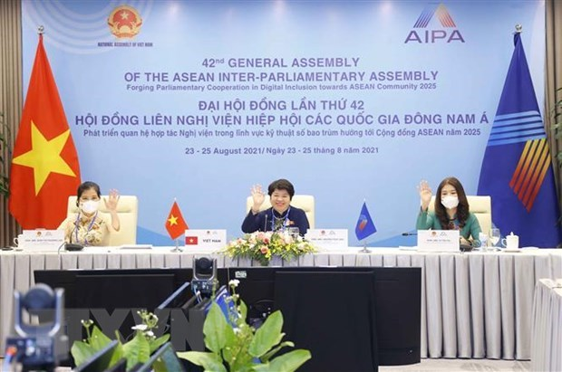 AIPA female parliamentarians promote women empowerment post COVID-19 hinh anh 1