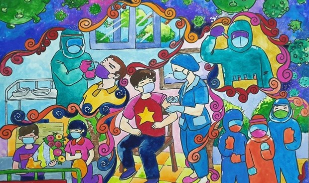 HCM City's 8th grader wins special prize of COVID-19 drawing contest hinh anh 2
