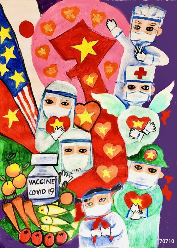 HCM City's 8th grader wins special prize of COVID-19 drawing contest hinh anh 1