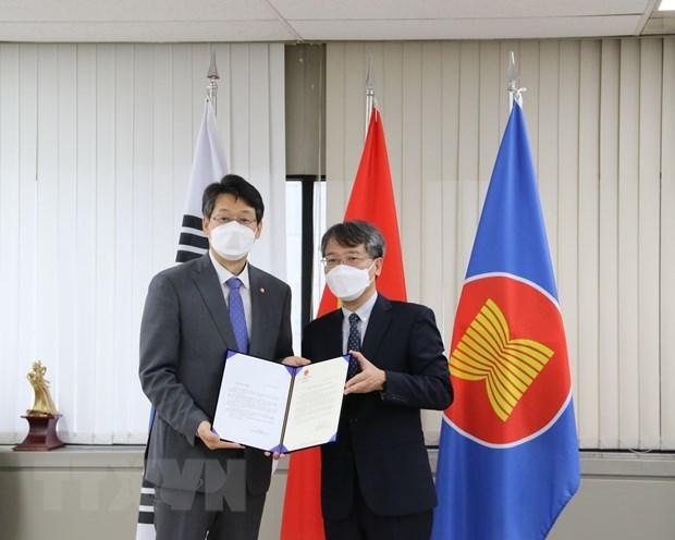 RoK city sends 5,000 COVID-19 rapid test kits to Vietnam's Da Lat hinh anh 1