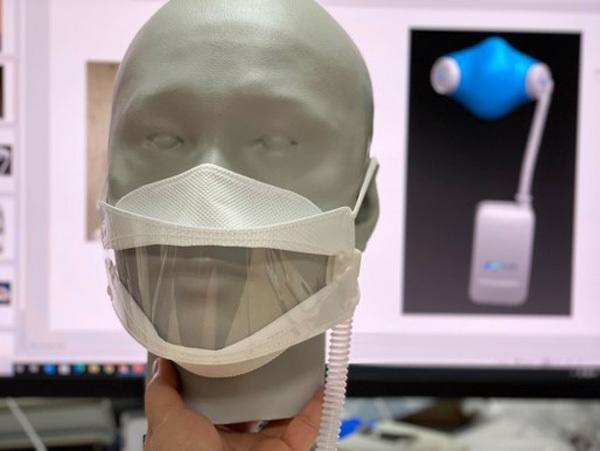Ventilator creator invents antiviral face mask hinh anh 2