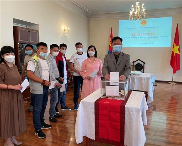 Vietnamese in Mongolia support COVID-19 fight at home hinh anh 1