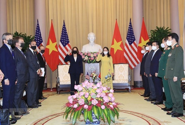 Vietnamese Vice President welcomes US counterpart hinh anh 1