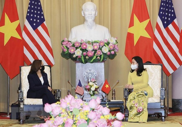 Vietnamese Vice President welcomes US counterpart hinh anh 2