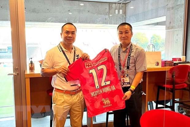 Câu lạc bộ bóng đá Nhật Bản mong muốn tăng cường giao lưu với các đồng nghiệp Việt Nam Hinh Anh 1