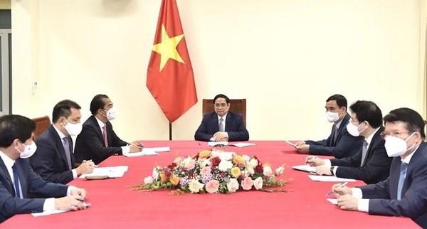 Vietnamese, Belgian PMs discuss measures to strengthen bilateral ties hinh anh 1