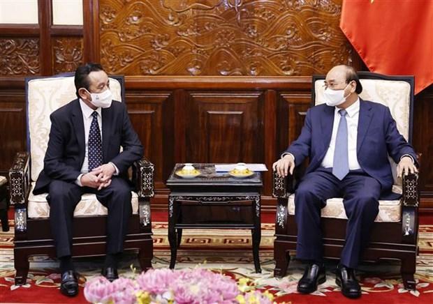 President receives outgoing Mongolian Ambassador hinh anh 1