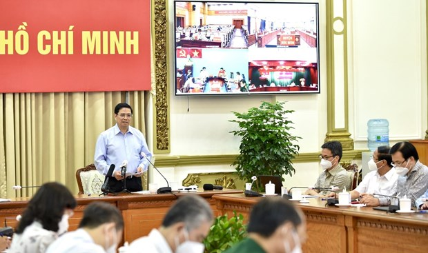 PM asks for continued support to HCM City during pandemic peak hinh anh 1