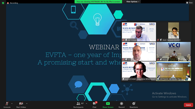 Webinar reviews one-year implementation of EVFTA hinh anh 1