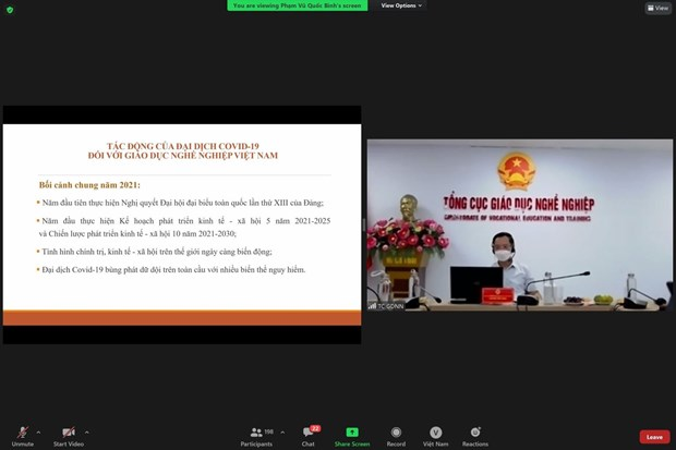 Webinar seeks measures to support Vietnam's vocational education hinh anh 1