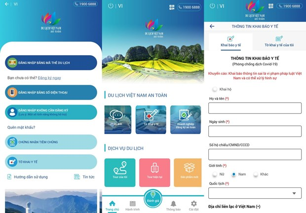 Health declaration service integrated into safe tourism app hinh anh 1