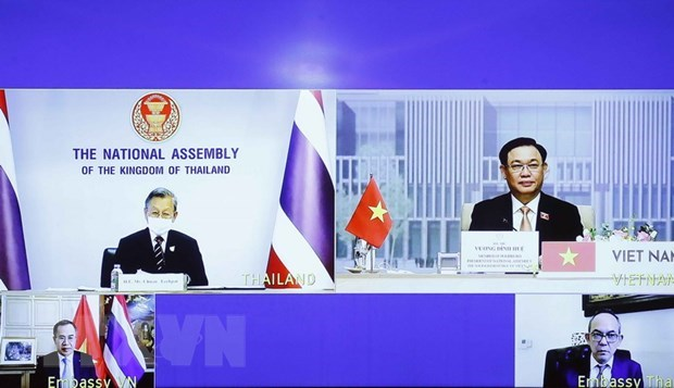 Vietnamese, Thai top legislators hold online talks hinh anh 2