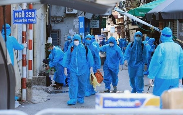 Hanoi reports 45 new COVID-19 infections over last 6 hours hinh anh 1