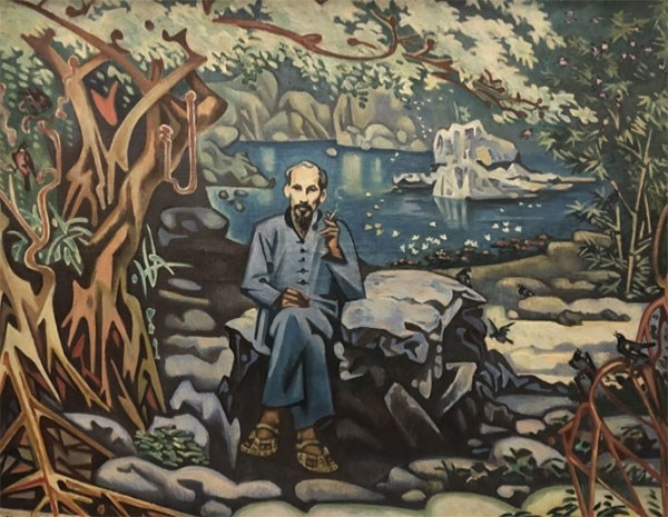 Online painting exhibition features August Revolution victory hinh anh 1