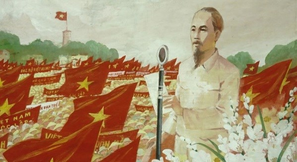 Online painting exhibition features August Revolution victory hinh anh 2