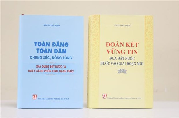 Party chief's two books introduced to public hinh anh 1