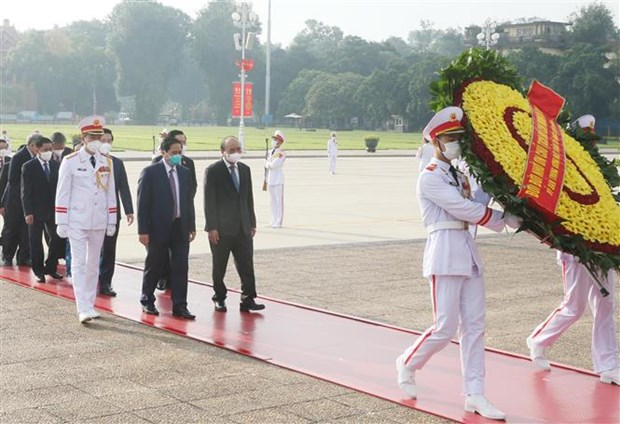 Leaders commemorate President Ho Chi Minh on National Day hinh anh 1
