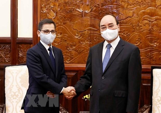 President Nguyen Xuan Phuc hosts Indian Ambassador hinh anh 1