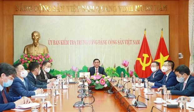 Vietnamese, Chinese Party inspection commissions step up collaboration hinh anh 1