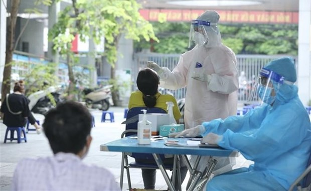 Hanoi completes 81.78 percent of mass testing plan hinh anh 1
