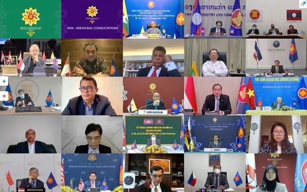 Cambodia attends virtual AEM-ASEAN BAC Consultations hinh anh 1