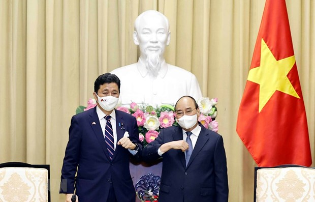 President receives visiting Japanese Defence Minister hinh anh 1