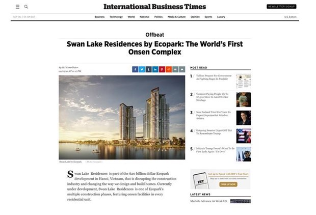 Vietnam's onsen complex touted as world's first in UK, US newspapers hinh anh 1