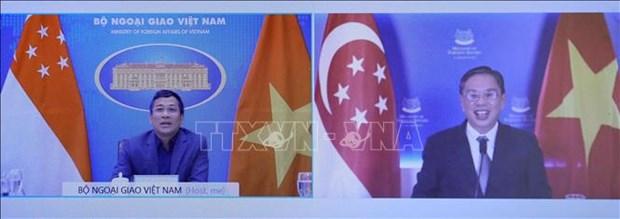 Vietnamese, Singaporean diplomats hold online talks hinh anh 1