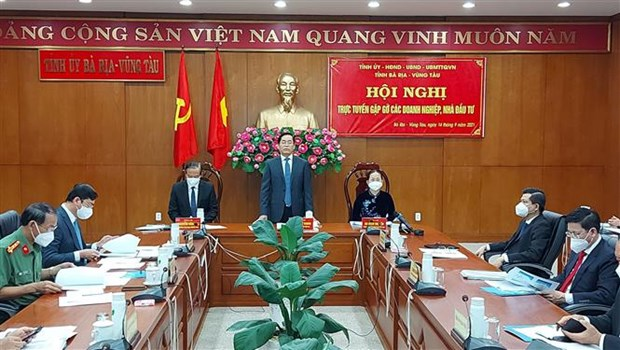 Ba Ria-Vung Tau talks ways to remove difficulties with business community hinh anh 1