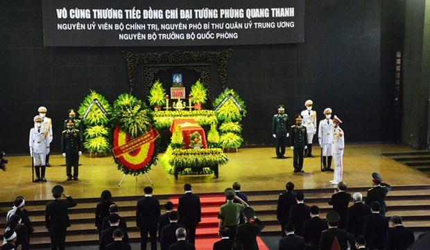 State funeral held for former Defence Minister Phung Quang Thanh hinh anh 1