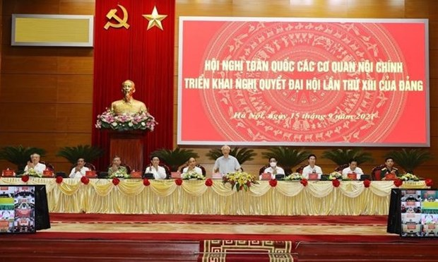 Conference of internal affairs agencies to realise 13th National Party Congress' Resolution opens hinh anh 1