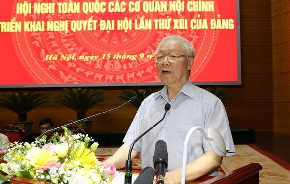 Party chief commends important role of internal affairs agencies hinh anh 1