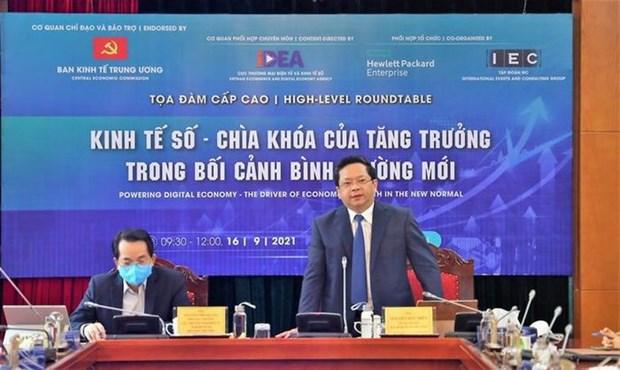 High-level webinar looks into digital economic development hinh anh 2