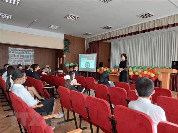 Vietnamese language course opens at Ukraine's school hinh anh 1