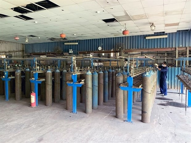 Steel company supplies oxygen to treat COVID-19 patients hinh anh 1