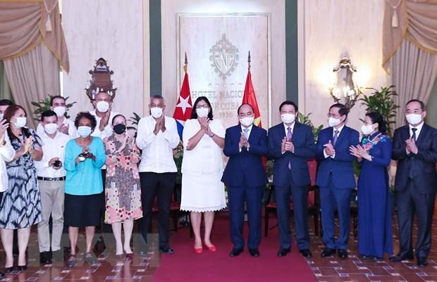 President receives leaders of Cuba – Vietnam friendship organisations hinh anh 2
