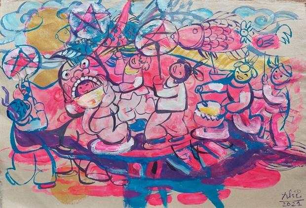 Mid-Autumn Festival artworks on virtual display hinh anh 5