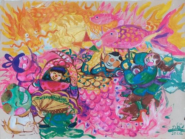 Mid-Autumn Festival artworks on virtual display hinh anh 6