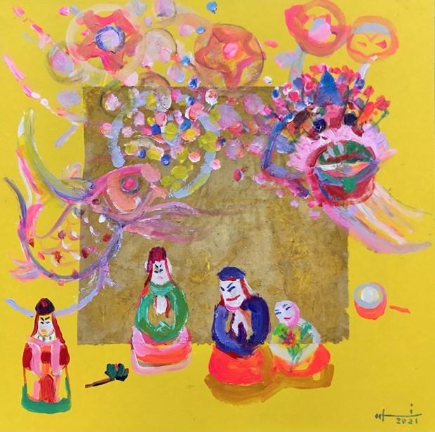 Mid-Autumn Festival artworks on virtual display hinh anh 4