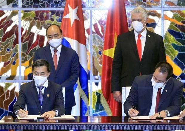 President Nguyen Xuan Phuc wraps up Cuba visit hinh anh 3
