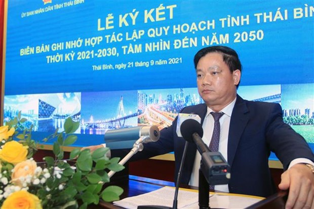 Thai Binh province signs MOU on planning work in 2021-2030 hinh anh 1