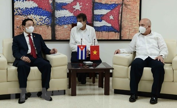 Vietnam, Cuba share experience in party building hinh anh 1